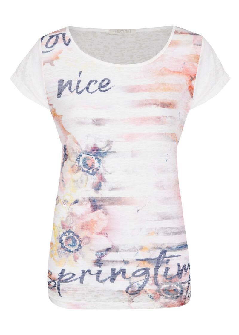 heimatliebe damen t-shirt mit multicolour blumendruck in