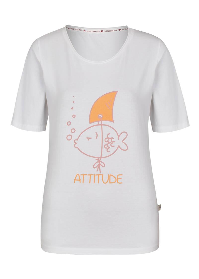 heimatliebe damen t-shirt mit mottoaufdruck in weiß