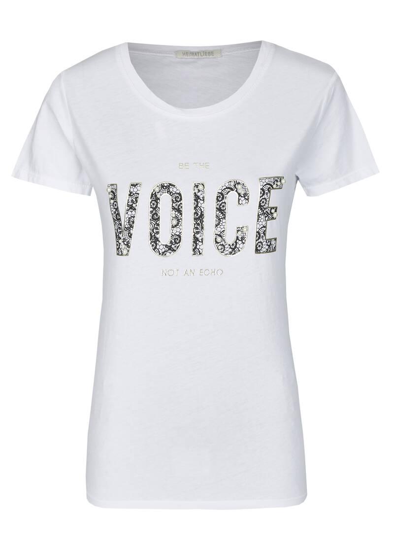t-shirt mit mottodruck in weiß | heimatliebe online shop